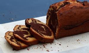 Cake marbré chocolat - spéculoos