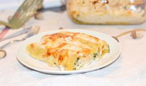 Cannelloni courge, épinards, ricotta et parmesan