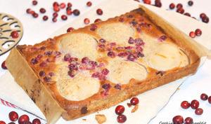 Tarte Bourdaloue et cranberries