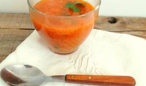 Bouillon de carottes, potiron et perles du Japon