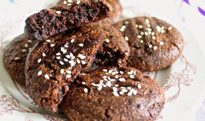 Cookies au cacao et tahini