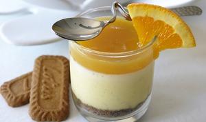 Crémeux à la vanille bourbon, spéculoos et orange à la coriandre