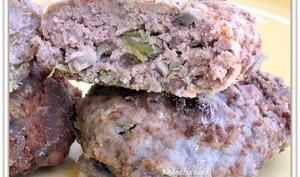 Croquettes de viande aux piments et champignons