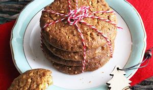 Cookies aux noisettes, éclats d'amandes & pépites de chocolat blanc