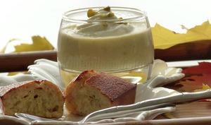 Crème dessert et financier à la pistache et à l'amande