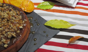 Poke cake kakis/noix/caramel