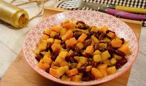 Colombo végétarien haricots rouges et légumes d'automne