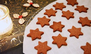 Sablés chocolat cannelle pour Noël