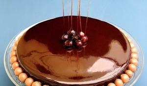Entremets au caramel et chocolat