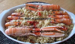 Quinoa poivrons et crevettes