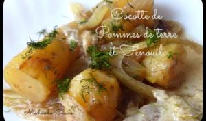 Cocotte de pommes de terre au fenouil, sauce au vin blanc et fanes de fenouil