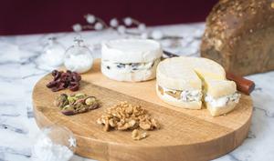Les fromages surprises - cranberries, pistaches, noix et graines de lin