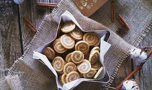 Sablés marbrés à la cannelle vanille