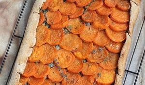 Tarte écaille de patate douce