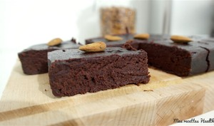 Brownie fondant à la betterave et à l'amande