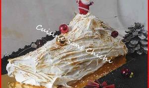 Bûche de Noël meringuée, au citron