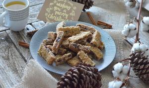 Bâtonnets moelleux aux noix et chocolat
