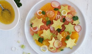 Salade d'hiver, agrumes et avocat