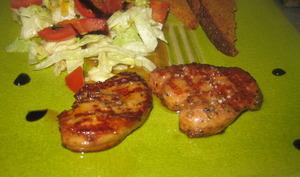 Foie gras poêlé au sirop de vinaigre balsamique