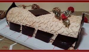 Bûche chocolat Dulcey, et son insert praliné