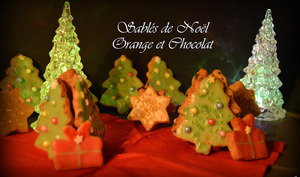 Sablés de Noël Orange & Chocolat