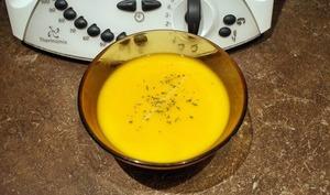Soupe de carottes cerfeuil