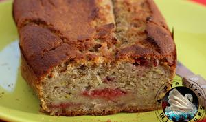 Banana bread framboise pistache