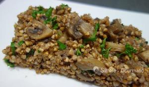 Sarrasin grillé aux champignons