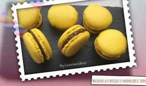 Macarons au chocolat et marmelade d'orange