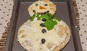Pizza bonhomme de neige