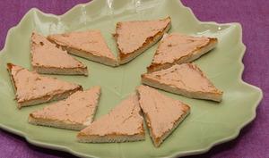Toasts à la mousse de saumon
