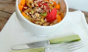 Salade d'endives, pomelos, pommes et cheddar
