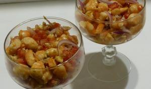Ceviche de crevettes à la grenade