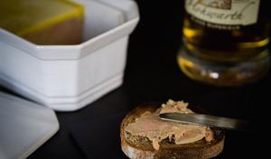 Terrine de foie gras au whisky et à la vanille