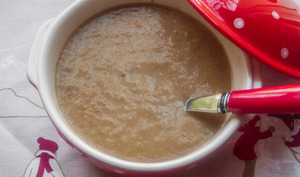 Soupe poireaux champignons châtaignes