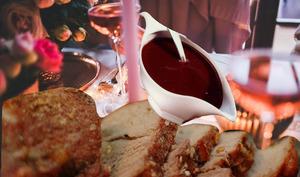 Rôti de porc, sauce grand veneur façon venaison