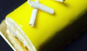 Bûche comme une tarte citron meringuée