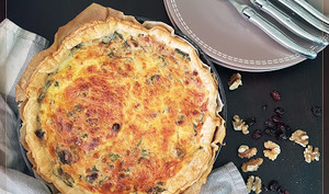 Quiche épinards Ricotta noix et cranberries