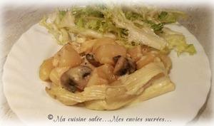 Tartiflette, champignons et lardons