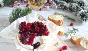 Camembert aux cranberries rôtis au four