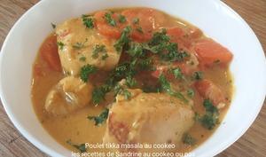 Poulet tikka masala et carottes