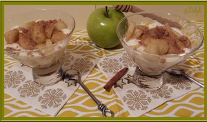 Verrines de Pommes Spéculoos et Cannelle