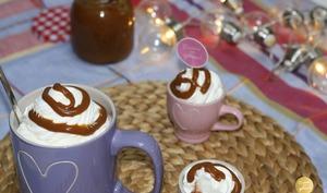 Chocolat chaud gourmand, Chantilly caramel