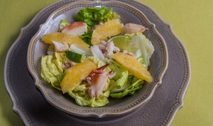 Salade de crabe à l'orange