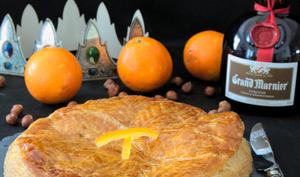 La galette à la frangipane de noisette et aux oranges confites