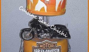 Gâteau thème : Harley-Davidson