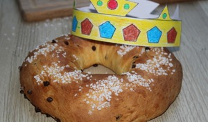 Couronne des rois briochée au zeste de citron et pépites de chocolat