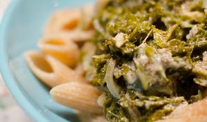 Penne au chou kale et gorgonzola