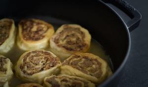 Fleischschnacka, spécialité alsacienne de roulés escargots, à la viande et restes de pot-au-feu