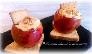 Pommes coeurs cheesecake